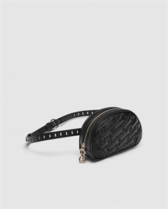 QUILTED BELT BAG WITH SLOGAN