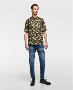 CAMOUFLAGE VOILE SHIRT
