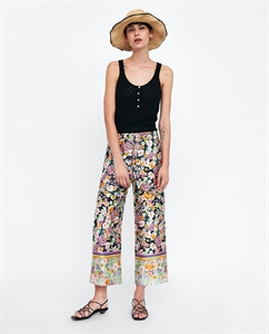 COMBINATION PRINTED TROUSERS
