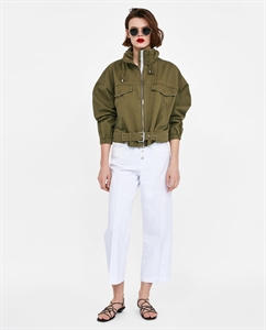 JACKET WITH GATHERED COLLAR