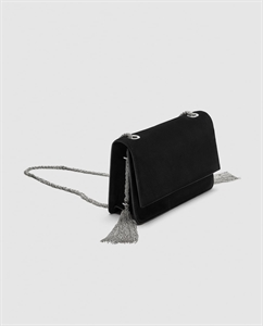 LEATHER CROSSBODY BAG WITH CHAINS