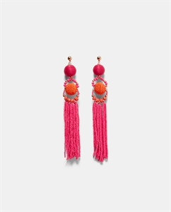 BEADED EARRINGS WITH FRINGING