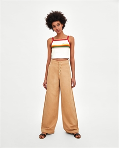 CROPPED STRAPPY T-SHIRT