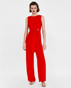 LONG JUMPSUIT WITH EYELETS