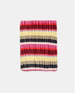 PLEATED SCARF WITH STRIPES