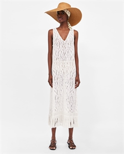 LACE DRESS WITH FRINGING