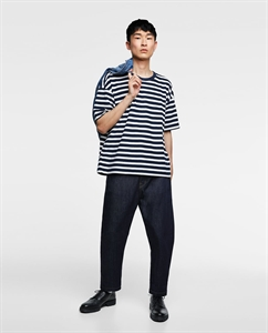STRIPED TERRYCLOTH SWEATSHIRT