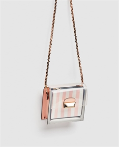 EMBELLISHED MINI VINYL CROSSBODY BAG