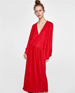 PLEATED KIMONO DRESS