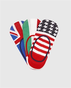 PACK OF FLAG PRINT NO-SHOW SOCKS