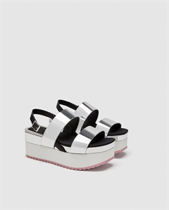 FLATFORM SANDALS WITH SILVER STRAPS