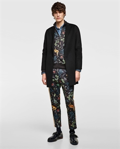 PRINTED TROUSERS WITH SIDE STRIPES