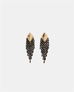 FRINGED METAL EARRINGS