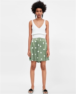 POLKA-DOT BERMUDA SHORTS