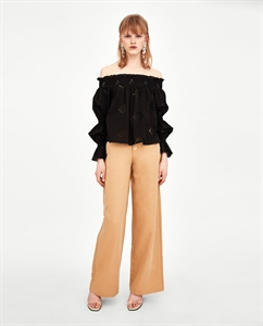 TOP WITH CUTWORK EMBROIDERY