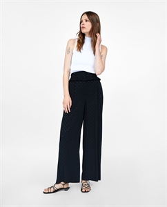 FRILLED JACQUARD TROUSERS