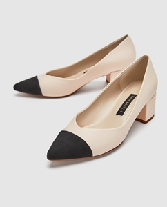 POINTED MID-HEEL COURT SHOES