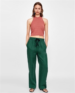 LINEN TROUSERS WITH BOW