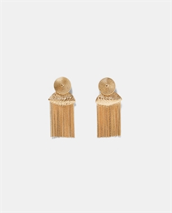 EARRINGS WITH CHAIN FRINGING