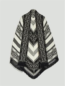Ethnic pattern cape