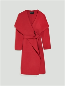 Cashmere/wool wrap coat