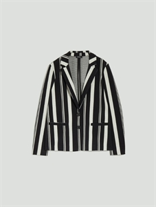 Stripe pattern jacket