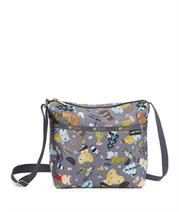 Small Cleo Crossbody Hobo - Singing in the Woods
