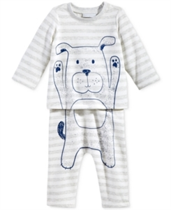First Impressions 2-Pc. Dog T-Shirt & Pants Set, Baby Boys (0-24 months), Only at Macy's