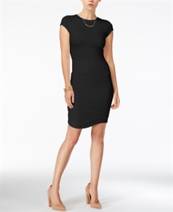 Bar Iii Cap-Sleeve Bodycon Dress, Only at Macy's