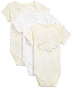 First Impressions 3-Pk. Clouds & Stars Bodysuits, Baby Boys & Girls (0-24 months), Only at Macy's