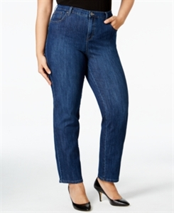 Style & Co. Plus Size Tummy-Control Straight-Leg Jeans, Only at Macy's