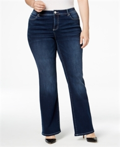 Inc International Concepts Plus Size Slim Tech Spirit Wash Bootcut Jeans, Only at Macy's