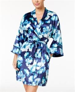 Thalia Sodi Printed Satin Wrap Robe, Only at Macy's