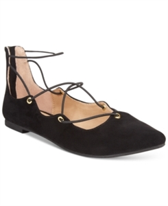 Material Girl Ibby Lace-Up Flats, Only at Macy's Women's Shoes