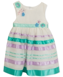 Rare Editions Satin-Ribbon Party Dress, Toddler & Little Girls (2T-6X)