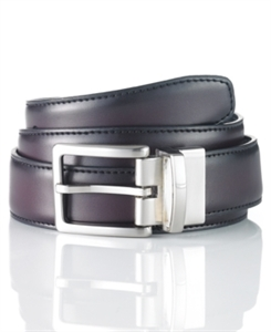 Club Room Leather Reversible Dress Belt