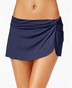 Anne Cole Solid Sarong Swim Skirt Women's Swimsuit