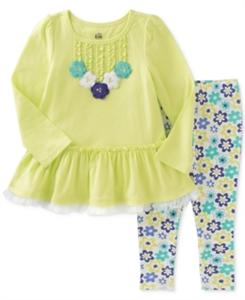 Kids Headquarters 2-Pc. Floral Tunic & Leggings Set, Toddler & Little Girls (2T-6X)