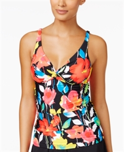Anne Cole Growing Floral-Printed Bra-Sized Underwire Tankini Top Women's Swimsuit