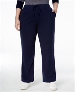 Karen Scott Plus Size Lounge Drawstring Pants