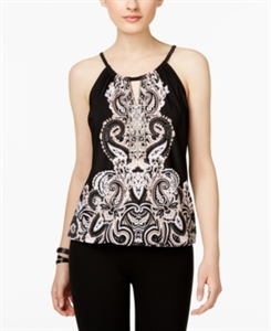 Inc International Concepts Paisley-Print Keyhole Top, Only at Macy's