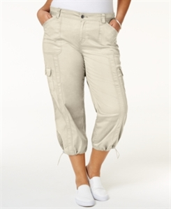 Style & Co. Plus Size Capri Cargo Pants, Only at Macy's