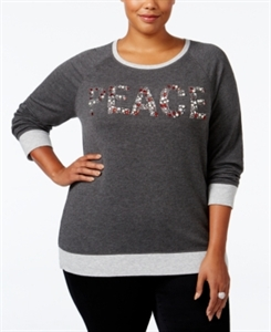 Style & Co. Plus Size Peace Graphic Top, Only at Macy's