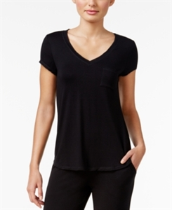 Alfani Chiffon-Trimmed Knit Pajama Top, Only at Macy's
