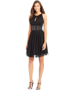 Jessica Howard Keyhole Embellished A-Line Dress