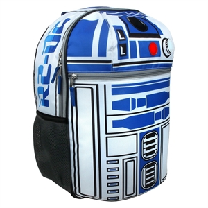 Star Wars 16 R2D2 On Patrol with Sound and Lights Kids Backpack - Blue, White