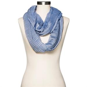 Women's Infinity Scarf Blue and White - Merona