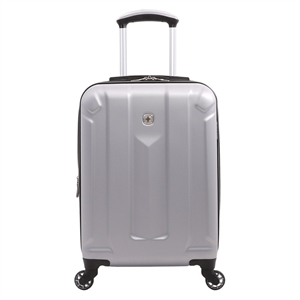 SwissGear Zurich 19 Hardside Carry On Spinner Luggage - Silver, Silver Gray