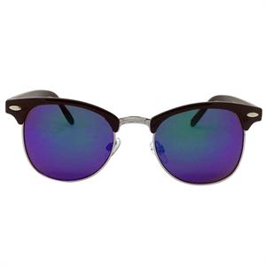 Retro Sunglasses- Black/Blue Mirror, Adult Unisex, Size: Small