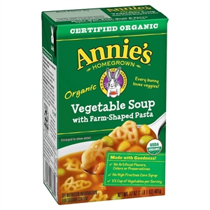 Annie's Homegrown Organic Vegetable Soup with Farm-Shaped Pasta 17 oz